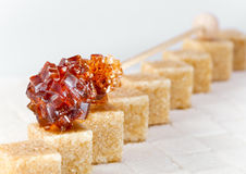 Stick with brown sugar.Close up Royalty Free Stock Photography
