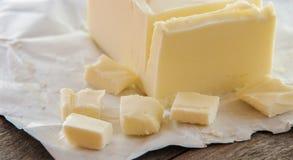 Stick of butter, cut Stock Photos