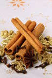 Stick cinnamon, anise and cloves Stock Photo
