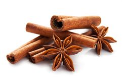 Stick cinnamon and star anise Royalty Free Stock Photography