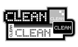 Stick clean. Creative design of stick clean Stock Photos