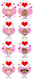 Stick cupids collection Stock Images