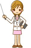 Stick with the doctor. This is an illustration of a woman doctor and stick Royalty Free Stock Image