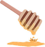Stick Dripping With Honey. Vector illustration of a stick dripping with honey for Rosh Hashanah Jewish new year stock illustration