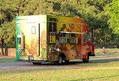Stick Em Walk-Up Food Truck Royalty Free Stock Images