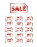 Stick-on försäljning Stock Illustrationer