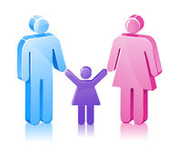 Stick Family daughter stock illustration