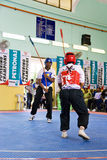 Stick Fighting (Silambam) Action Royalty Free Stock Photography