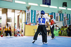 Stick Fighting (Silambam) Action Royalty Free Stock Images