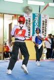 Stick Fighting (Silambam) Action Stock Photo