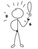 Stick figure business idea. S. Illumination vector illustration Royalty Free Stock Photo