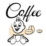 Stick figure Coffee break Coffee Typo Royalty Free Stock Photo