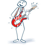 Stick figure with guitar Stock Images
