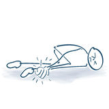 Stick figure with a heavy injury Stock Photo