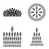Stick figure icon businessmen big company human resources vector Stock Images