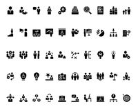Stick Figure monochrome. Stick figure. Business icons. Vector. Monochrome icons Stock Images