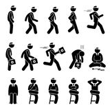 Basic Doctor Movements and Actions. Stock Images