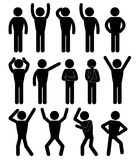 Stick figure positions set vector. Pictogram Icon Royalty Free Stock Photo