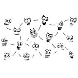 Stick figure series emotions - Connected. Hand-drawn vector clipart Royalty Free Stock Images