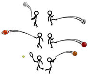 Stick Figure Sports Stock Image