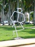 Stick Figure Statue of Jackie Gleason. Jackie Gleason - Stick figure statue royalty free stock photos