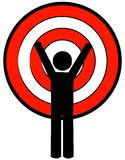 Stick figure with target head Stock Images