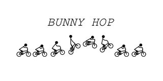 Bunny hop bmx. Stick figure vector bunny hop bmx Royalty Free Stock Photos
