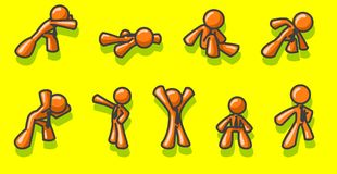 Stick figures. Several stick figures on a yellow background vector illustration