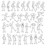 Stick figures collection Stock Photography