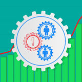 Stick figures of people in the gears. Vacancy. Required employee Royalty Free Stock Photography