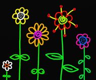 Stick flowers Royalty Free Stock Photography