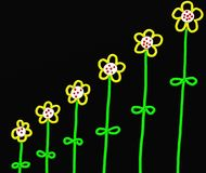 Stick flowers royalty free illustration