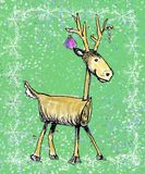 Stick Holiday Deer Stock Photo