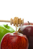 Stick honey and apples Stock Photo