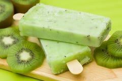 Stick ice cream. Kiwi flavor Stock Photo