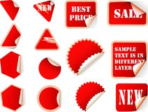 Stick labels Royalty Free Stock Photos