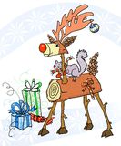 Stick Holiday Reindeer Stock Photography