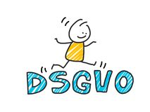 Stick man in front of DSGVO letters. General Data Protection Regulation. GDPR, RGPD, DSGVO, DPO. Concept vector. Stick man in front of DSGVO letters. General Royalty Free Stock Photos