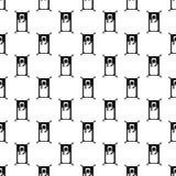 Stick man pattern seamless Royalty Free Stock Image