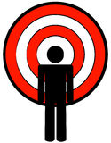 Stick man with target for head Stock Photography