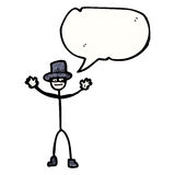 stick man with top hat and speech bubble Stock Photo