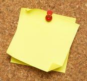 Stick Note Cork Board stock image