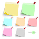 Stick note paper with Color set Isolate on white  background Royalty Free Stock Image