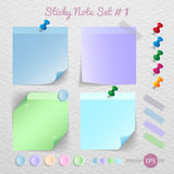 Stick note paper with Color set Royalty Free Stock Photo
