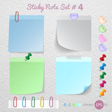 Stick note paper with Color set Royalty Free Stock Photos