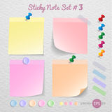 Stick note paper with Color set Royalty Free Stock Images