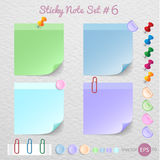 Stick note paper with Color set ,Vector Stock Photo