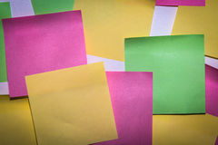 Stick note paper on isolated white background Royalty Free Stock Photo