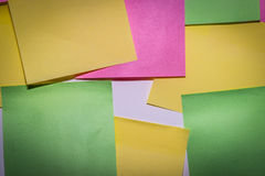 Stick note paper on  white background Stock Photos
