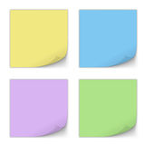 Stick Note Set. Vector Royalty Free Stock Photo